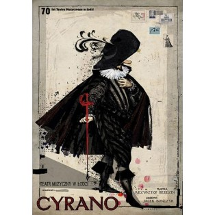 Cyrano Musical von Krzysztof Herdzin und Jacek Bończyk Ryszard Kaja Polnische Musikplakate