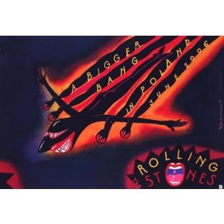 The Rolling Stones Roman Kalarus Polnische Musikplakate