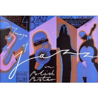Image of Jazz in Polish Poster Roman Kalarus Polnische Musikplakate
