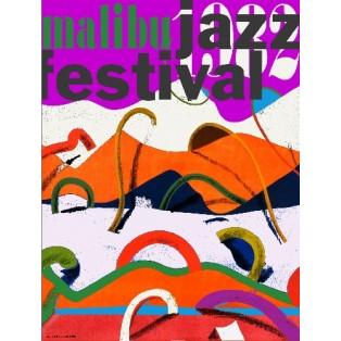 Malibu Jazz Fest Leonard Konopelski Polnische Musikplakate