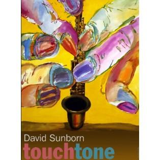 David Sanborn Touchtone Leonard Konopelski Polnische Musikplakate