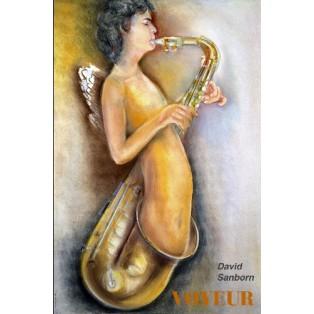 David Sanborn Voyeur Leonard Konopelski Polnische Musikplakate