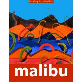 Malibu Playboy Jazz Festival Leonard Konopelski Polnische Musikplakate