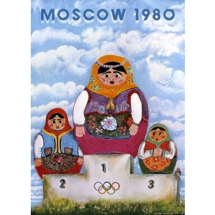 Moscow 1980 Leonard Konopelski Polnische Plakate