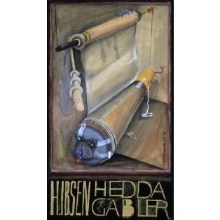 Hedda Gabler Leonard Konopelski Polnische Theaterplakate