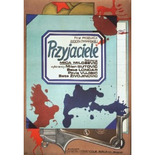 Freunde Mica Milosevic Andrzej Krajewski Polnische Filmplakate