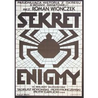 Geheimnis der Enigma Roman Wionczek Andrzej Krajewski Polnische Filmplakate