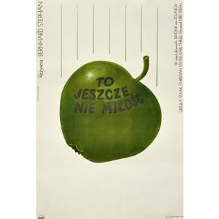 Für die Liebe noch zu mager Andrzej Krzysztoforski Polnische Filmplakate
