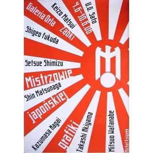 Meister der japanischen Grafikkunst Michał Książek Polnische Ausstellungsplakate