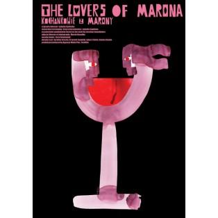 Liebenden von Marona Izabella Cywińska Sebastian Kubica Polnische Filmplakate