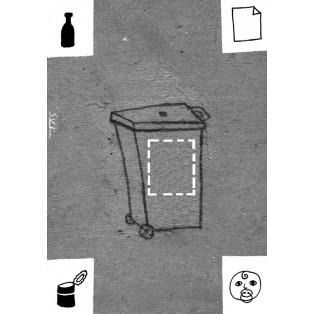 Recycling – Abtreibung Sebastian Kubica Polnische Plakate
