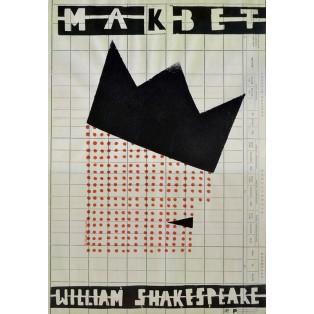 Macbeth Sebastian Kubica Polnische Theaterplakate