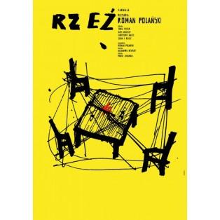 Gott des Gemetzels Roman Polański Sebastian Kubica Polnische Filmplakate