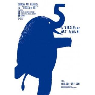 Circles of Art Sebastian Kubica Polnische Ausstellungsplakate