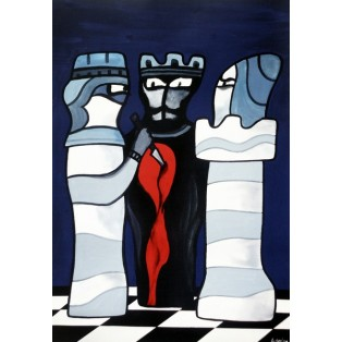 Schach und Kunst Jan Lenica Polnische Ausstellungsplakate