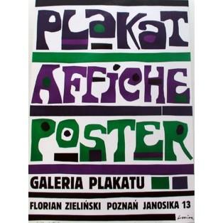 Plakat Affiche Poster Jan Lenica Polnische Ausstellungsplakate