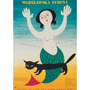 Warschauer Seejungfer Stanisław Bareja Eryk Lipiński Polnische Filmplakate