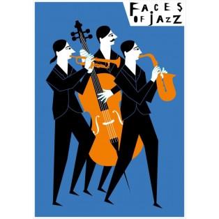 Gesichter des Jazz Faces of jazz Patrycja Longawa Polnische Musikplakate