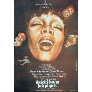 Gottseidank, es ist Freitag Robert Klane Lech Majewski Polnische Filmplakate