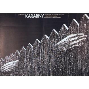 Rifles Waldemar Podgórski Lech Majewski Polnische Filmplakate