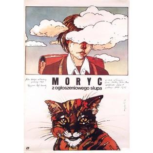 Moritz in der Litfaßsäule Grzegorz Marszałek Polnische Filmplakate