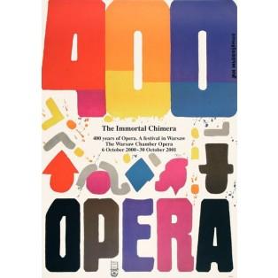 Oper 400 Jahre Oper Jan Młodożeniec Polnische Opernplakate