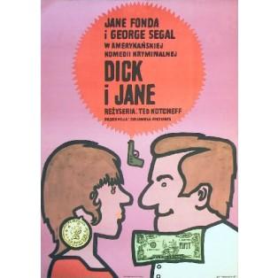 Dick und Jane Ted Kotcheff Jan Młodożeniec Polnische Filmplakate