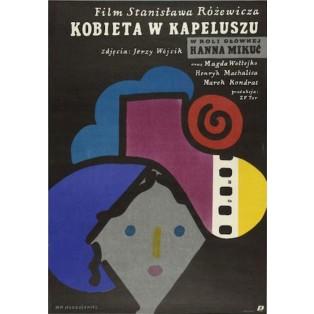 Frau mit dem Hut Stanisław Różewicz Jan Młodożeniec Polnische Filmplakate