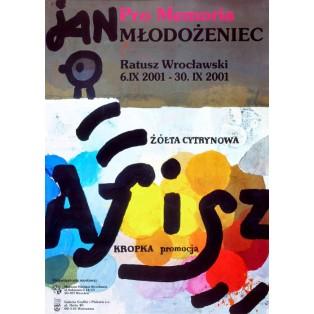 Pro memoria Jan Młodożeniec Polnische Ausstellungsplakate