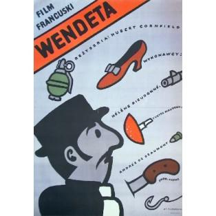 Alte Damen morden gründlich Hubert Cornfield Jan Młodożeniec Polnische Filmplakate