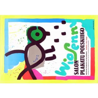 Frühlingssalon des Plakats Jan Młodożeniec Polnische Ausstellungsplakate