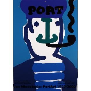 Port  Jan Młodożeniec Polnische Ausstellungsplakate