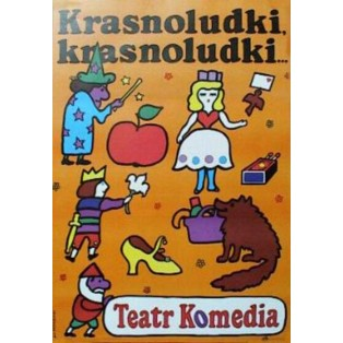 Krasnoludki, krasnoludki Jan Młodożeniec Polnische Theaterplakate