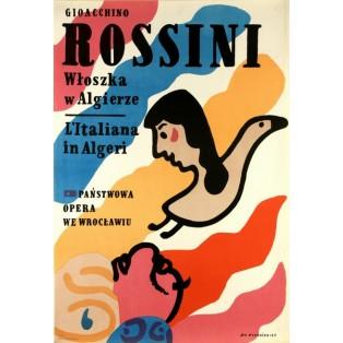 Italienerin in Algier Gioachino Rossini  Jan Młodożeniec Polnische Opernplakate
