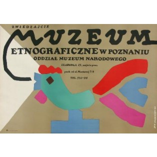 Ethnographische Museum in Posen Jan Młodożeniec Polnische Plakate