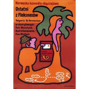 Den siste Fleksnes Jan Młodożeniec Polnische Filmplakate