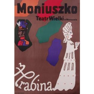 Gräfin Stanisław Moniuszko Jan Młodożeniec Polnische Opernplakate