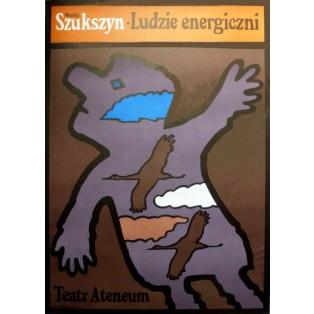 Energische Leute Jan Młodożeniec Polnische Theaterplakate
