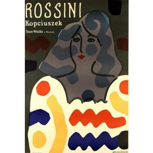 Aschenputtel, oder Der Triumph des Guten Jan Młodożeniec Polnische Opernplakate