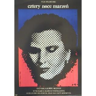 Vier Nächte eines Träumers Robert Bresson Jacek Neugebauer Polnische Filmplakate