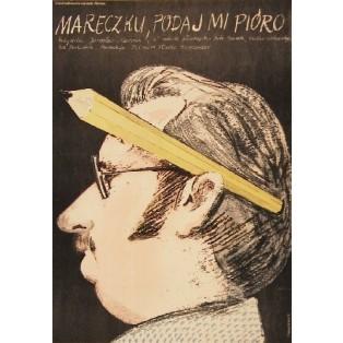 Marecek, reichen Sie mir die Füllfeder Oldrich Lipsky Jacek Neugebauer Polnische Filmplakate