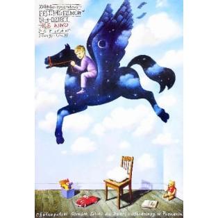 Ale Kino! 17. Kinderfilmfestival Rafał Olbiński Polnische Filmplakate