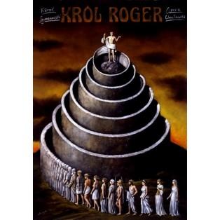 König Roger Rafał Olbiński Polnische Opernplakate