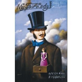 My Fair Lady Rafał Olbiński Polnische Opernplakate
