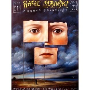Recent Paintings NYC 1991 Rafał Olbiński Polnische Ausstellungsplakate