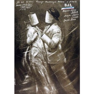 Bal - Der Tanzpalast Ettore Scola Andrzej Pągowski Polnische Filmplakate