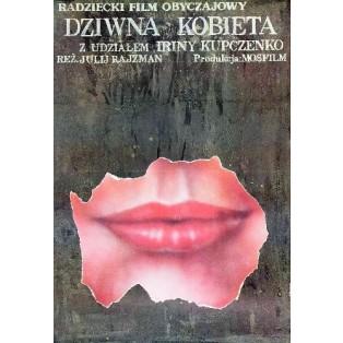 Merkwürdige Frau Yuli Raizman Andrzej Pągowski Polnische Filmplakate