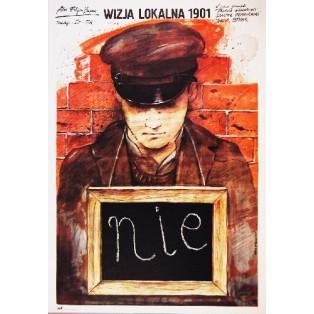 Inspection of the Crime Scene 1901 Andrzej Pągowski Polnische Filmplakate
