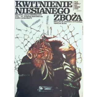 Cwietieniye niesieyannoy rzhy Marionas Gedris Marek Płoza-Doliński Polnische Filmplakate