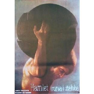 Hamlet Ironie und Trauer Jan Jaromir Aleksiun Polnische Theaterplakate